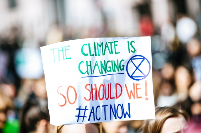 image of climate change protest